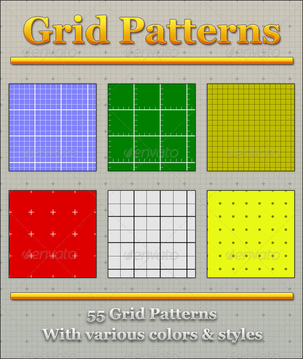 GraphicRiver Grid Patterns 4719827