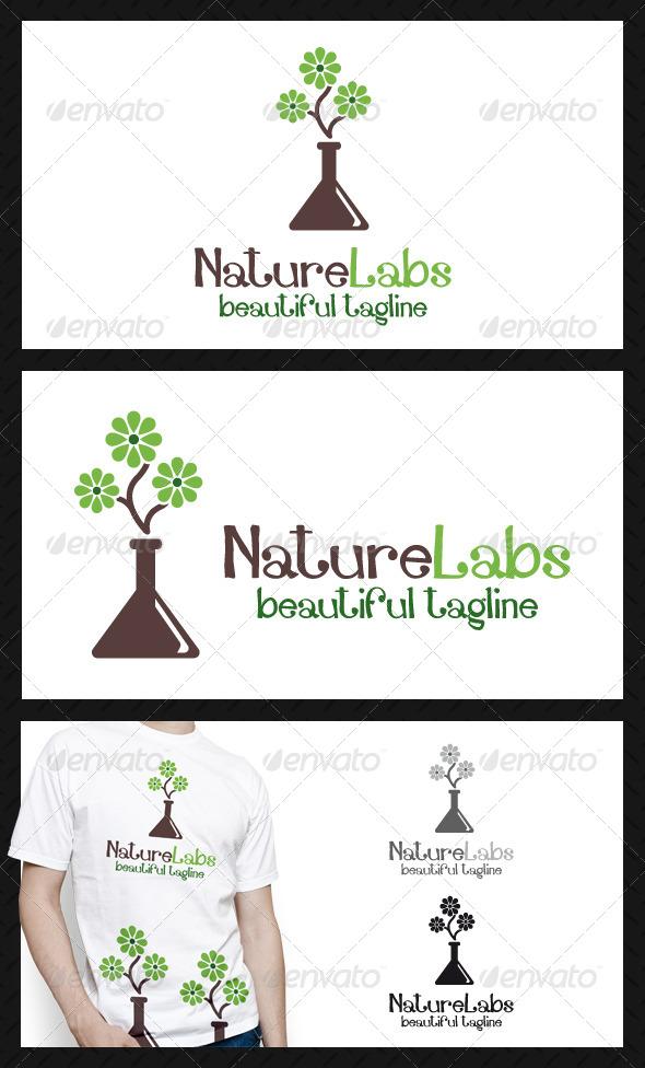 GraphicRiver Nature Labs Logo Template 4719840