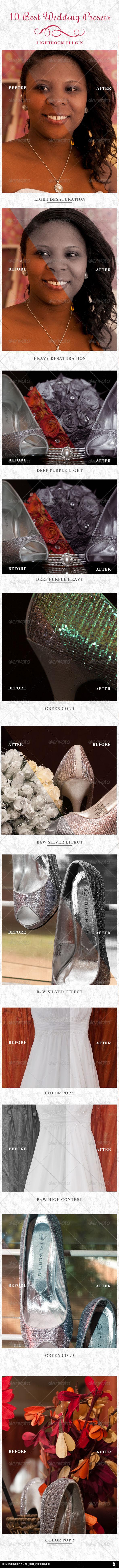 10 Best Wedding Presets  - Lightroom Presets Add-ons