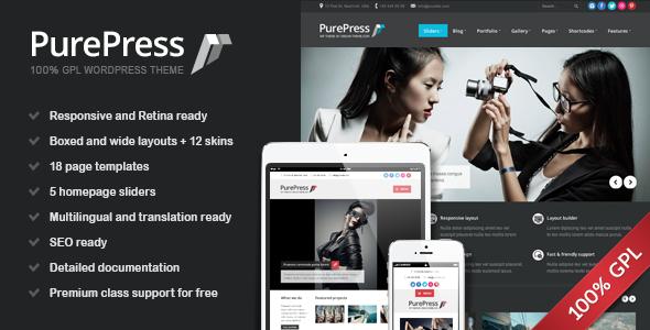 ThemeForest PurePress Responsive & Retina Ready Portfolio 4720197