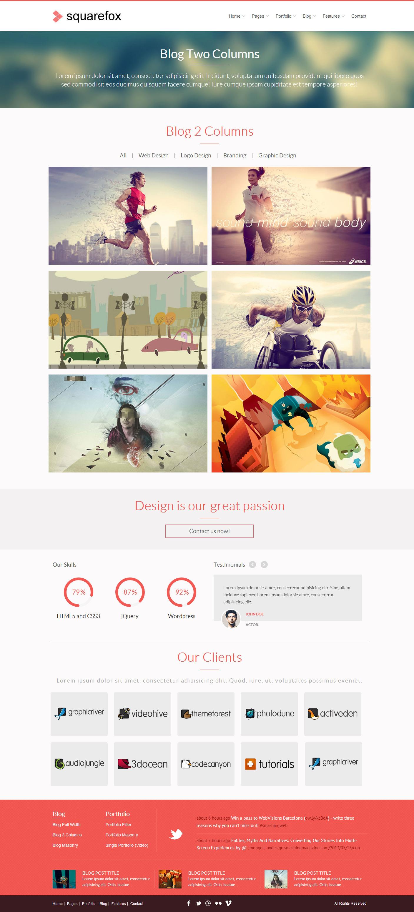 Squarefox - Unique Multipurpose Responsive Website