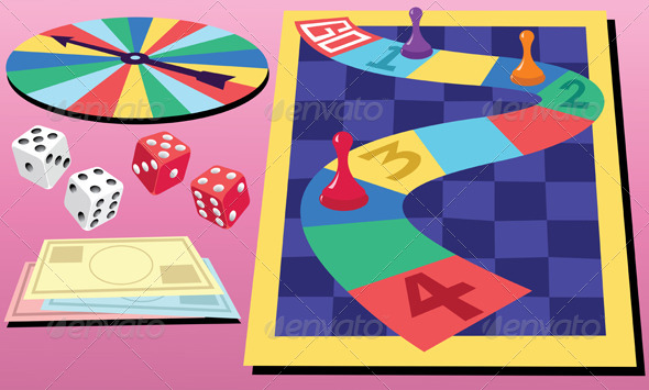 GraphicRiver Board Game & Dice 4720272