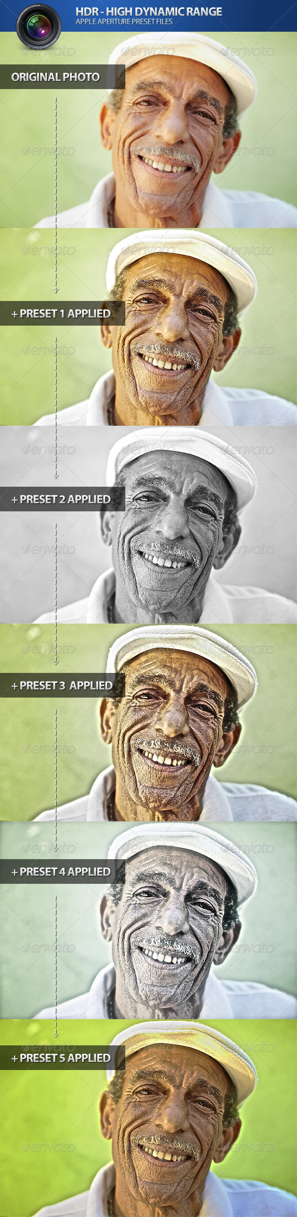 GraphicRiver HDR High Dynamic Range Aperture Presets 4720299