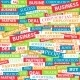 Seamless Pattern Composed of Words  - GraphicRiver Item for Sale