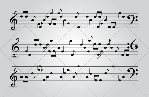 GraphicRiver Musical Notes Abstract Background Vector 4720364