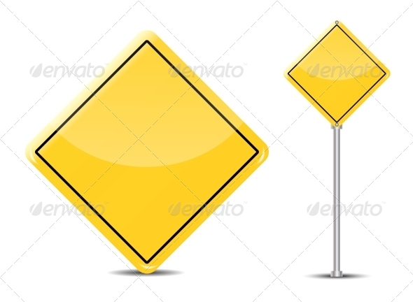 GraphicRiver Vector Blank Traffic Sign Isolated on White 4720368