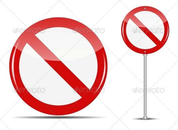 GraphicRiver Vector Traffic Sign Isolated on White Background 4720370