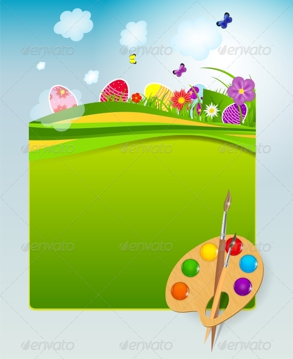 GraphicRiver Vector Illustration Background with Easter Eggs 4720436