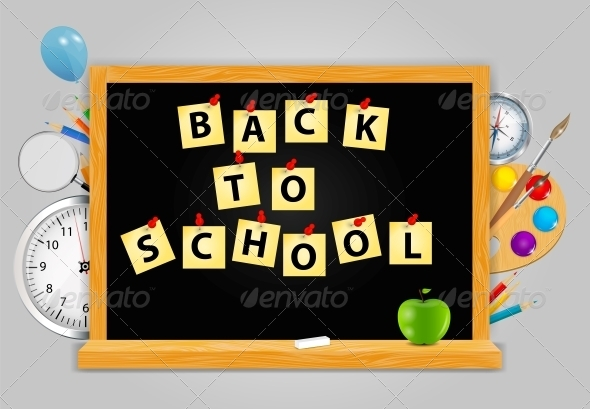 GraphicRiver Back to School Vector Background 4720464