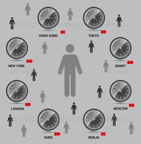 GraphicRiver Time Zone World Vector Illustration 4720471