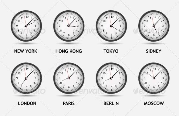GraphicRiver Time Zone World Vector Illustration 4720476