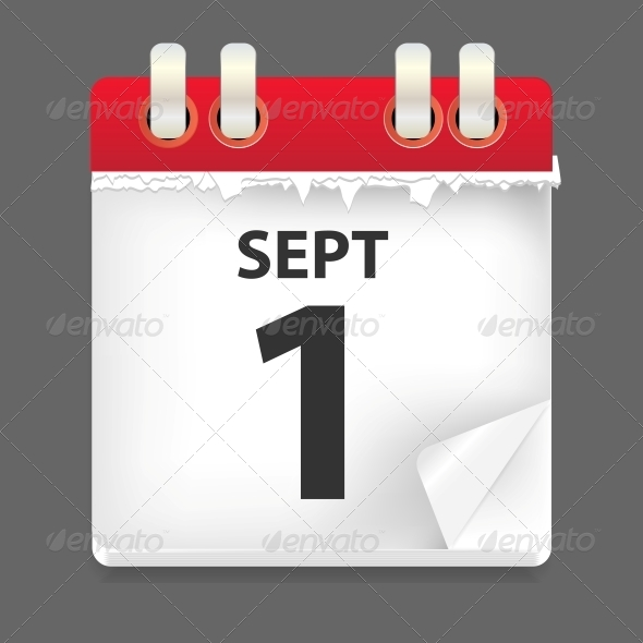 GraphicRiver 1 September Date Vector Illustration 4720481