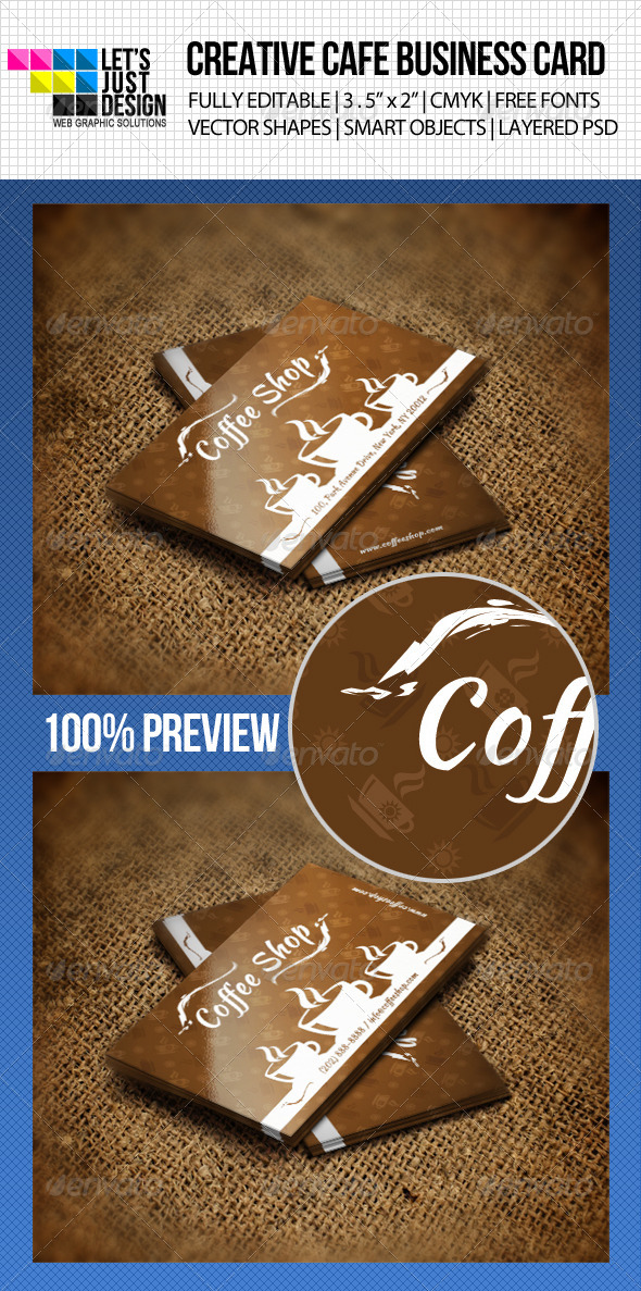 GraphicRiver Creative Cafe Business Card 4720667
