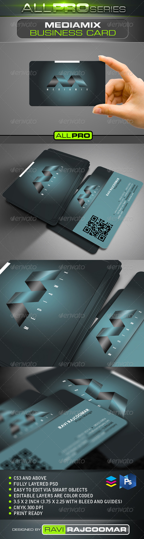 GraphicRiver Mediamix Business Card Template 4720732