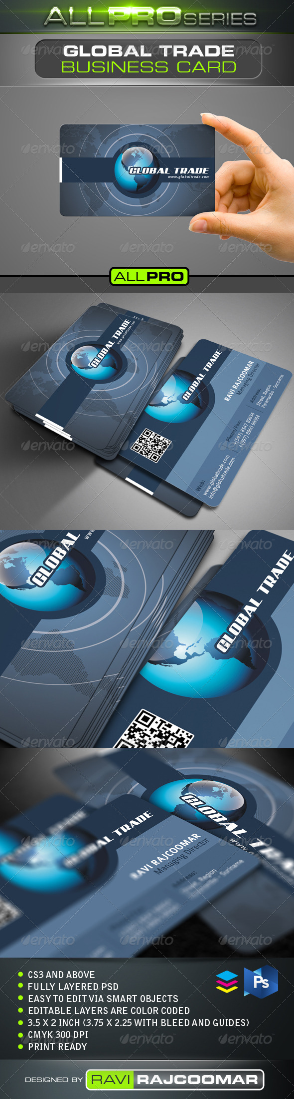 GraphicRiver Global Trade Business Card 4720733
