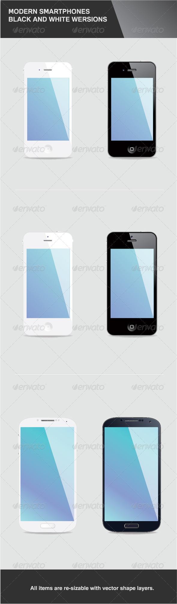 GraphicRiver 6 Modern Smartphones 4713419