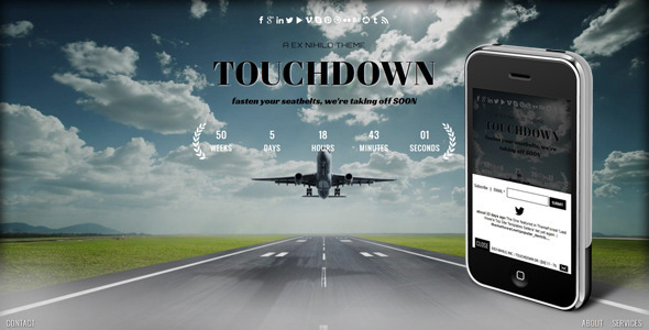 ThemeForest Touchdown Responsive Coming Soon Page 4660002