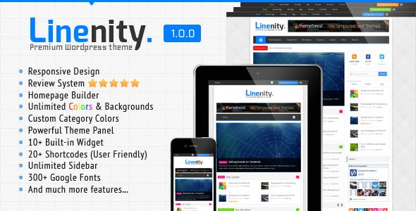 ThemeForest Linenity Clean Responsive Wordpress Magazine 4417803
