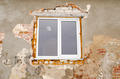 renovation plastic window old brick house wall - PhotoDune Item for Sale