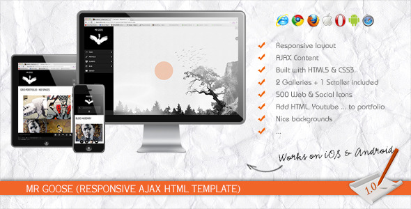 Mr Goose - Responsive AJAX HTML Template