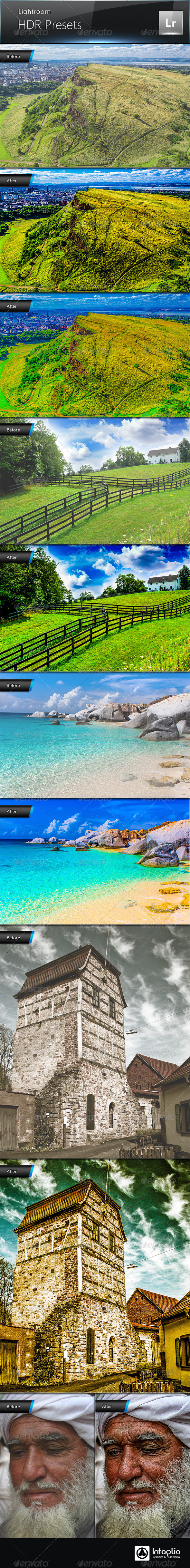 GraphicRiver HDR Presets for Lightroom 4721030