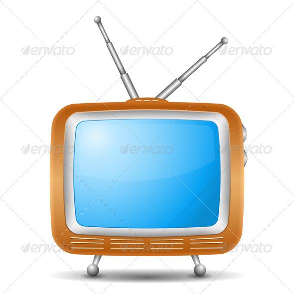 GraphicRiver Retro TV Icon 4721322