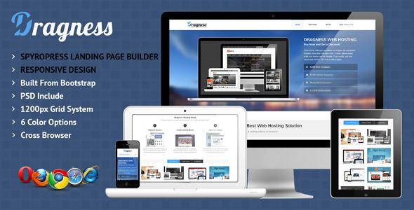 ThemeForest Dragness Premium WordPress Landing Page 4659146