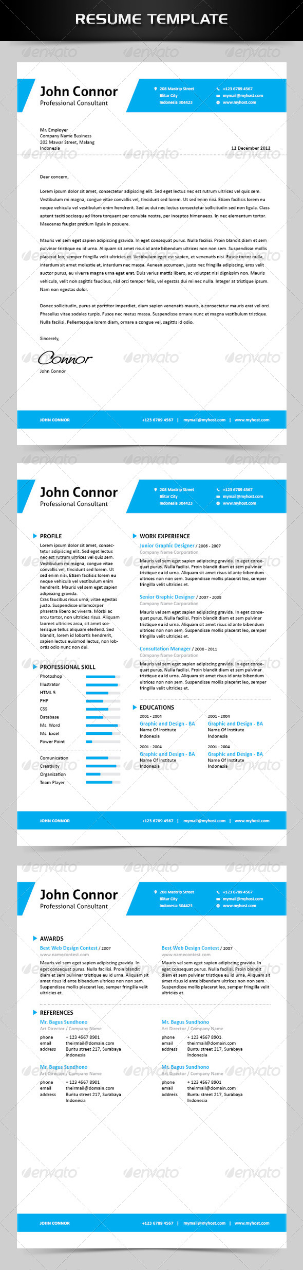 GraphicRiver Simple Resume 4721326