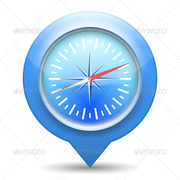 GraphicRiver Compass Icon 4721430