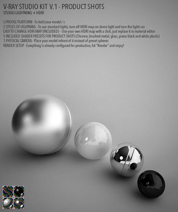 Vray Studio Setup v.1 - Product Shots - 3DOcean Item for Sale