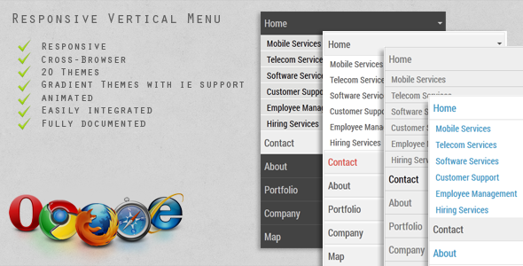 CodeCanyon Vertical Responsive Menu 4721444