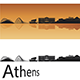 Athens Skyline in Orange Background - GraphicRiver Item for Sale