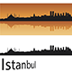Istanbul Skyline in Orange Background - GraphicRiver Item for Sale