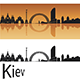 Kiev Skyline in Orange Background - GraphicRiver Item for Sale
