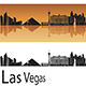 Las Vegas Skyline in Orange Background - GraphicRiver Item for Sale