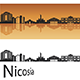 Nicosia Skyline in Orange Background - GraphicRiver Item for Sale