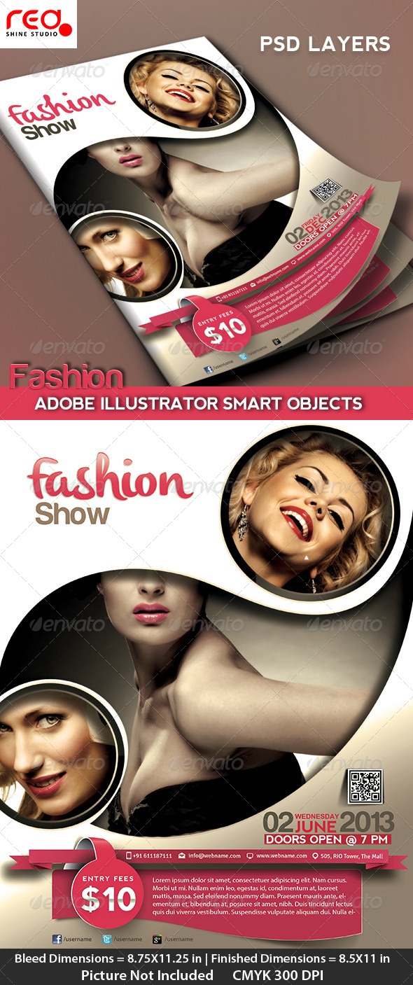 GraphicRiver Fashion Event Flyer Poster & Magazine Template 4643076