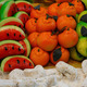 colorful and inviting marzipan fruits for sale in bakery - PhotoDune Item for Sale