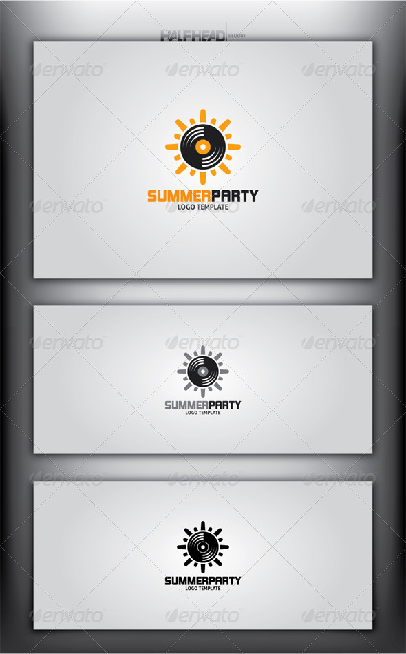 GraphicRiver SummerParty Logo Template 4722256