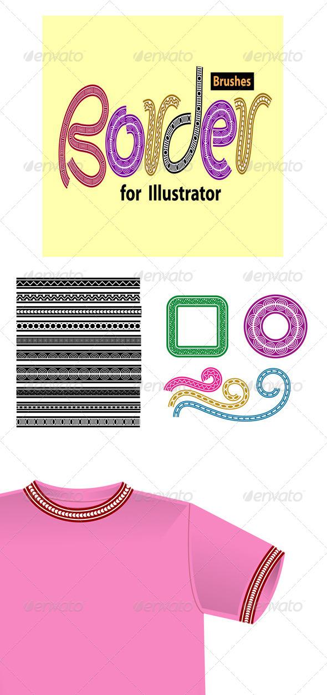 GraphicRiver Border Brushes for Illustrator 4722266