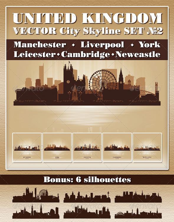 GraphicRiver Vector City Skyline United Kingdom Set Number 2 4722280