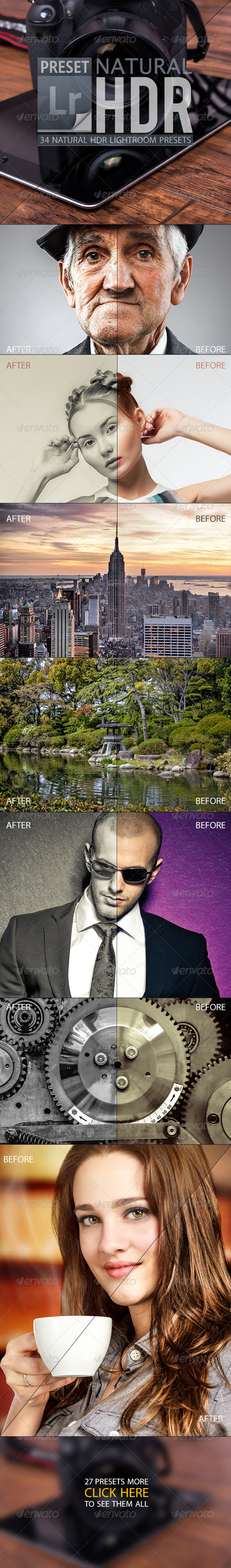 GraphicRiver Natural HDR Lightroom Presets 4722373