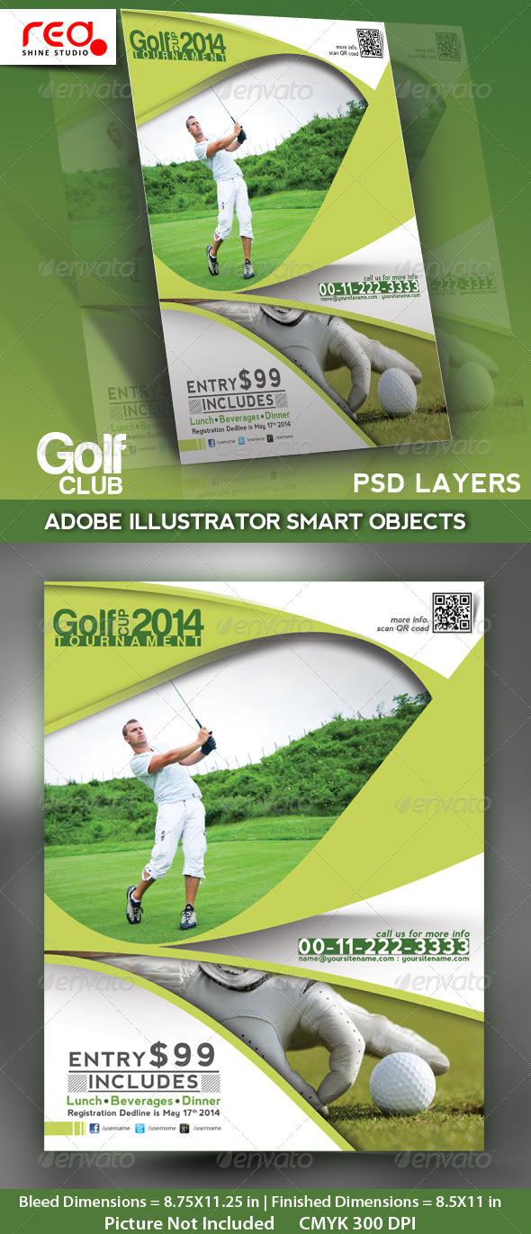 GraphicRiver Golf Club Flyer Poster & Magzine Template 4722463