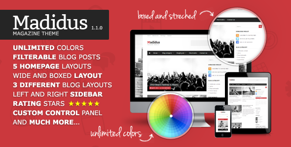 Madidus - Blog  Magazine Theme