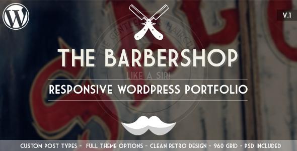 ThemeForest The Barbershop Responsive Wordpress Portfolio 4722571