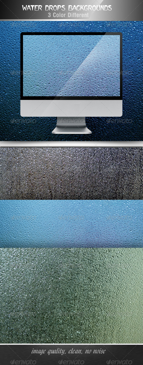 GraphicRiver Water Drops Backgrounds 4722687