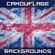 Camouflage Backgrounds With UK Flag - GraphicRiver Item for Sale