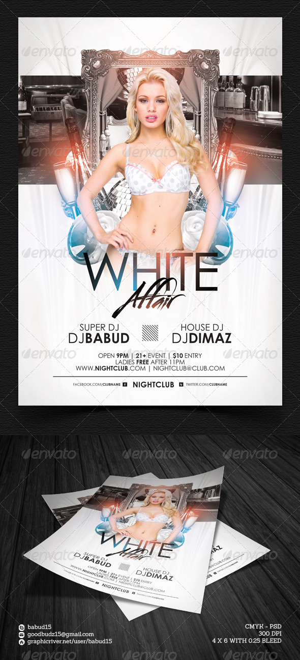 GraphicRiver White Affair Flyer Template 4722706