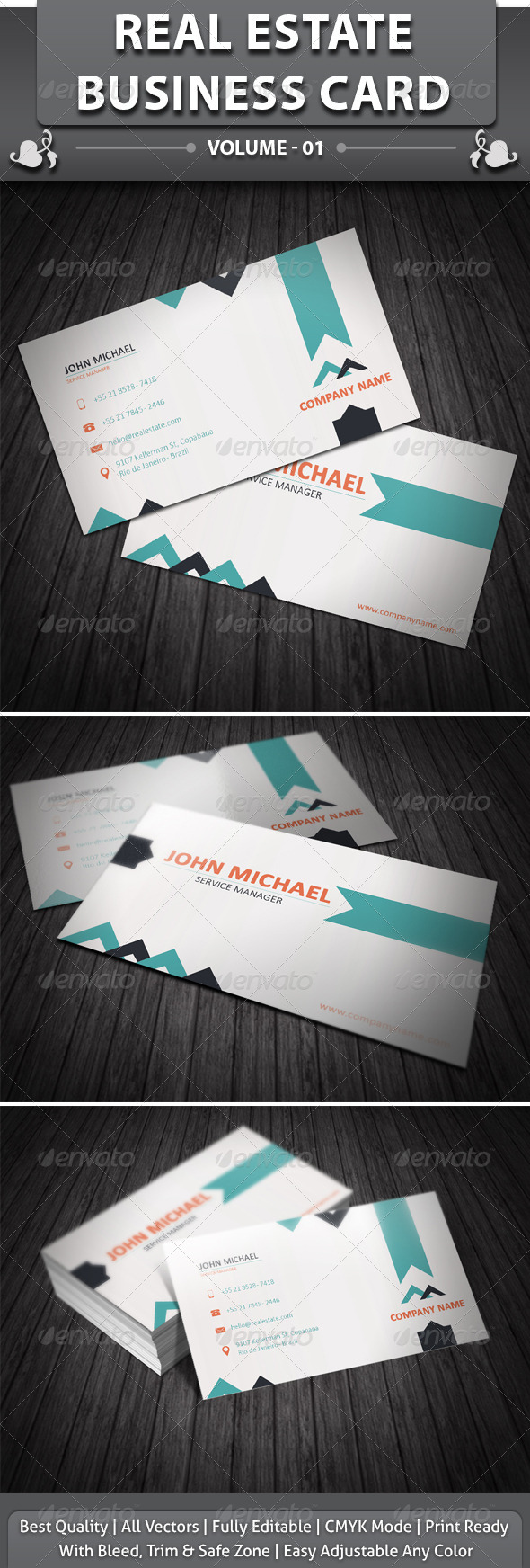 GraphicRiver Real Estate Business Card 4042962