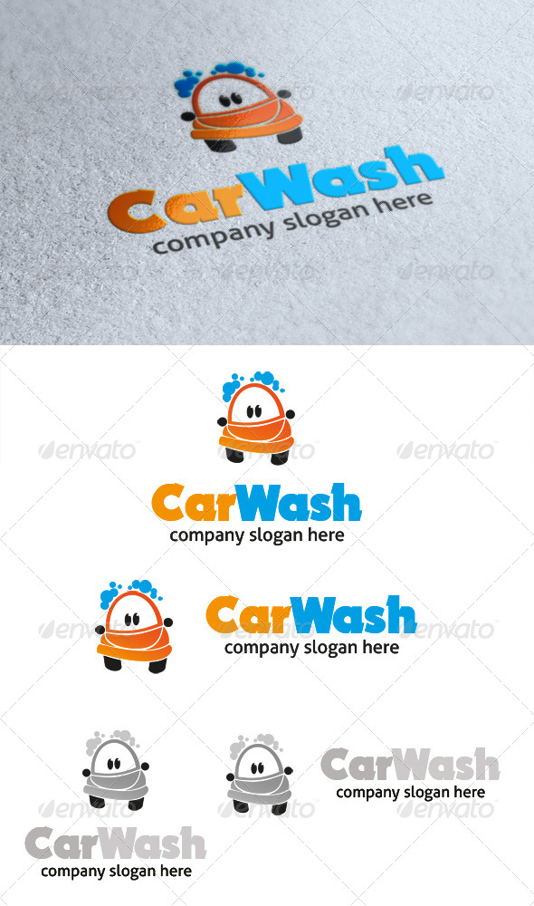 GraphicRiver Car Wash Logo 4655614